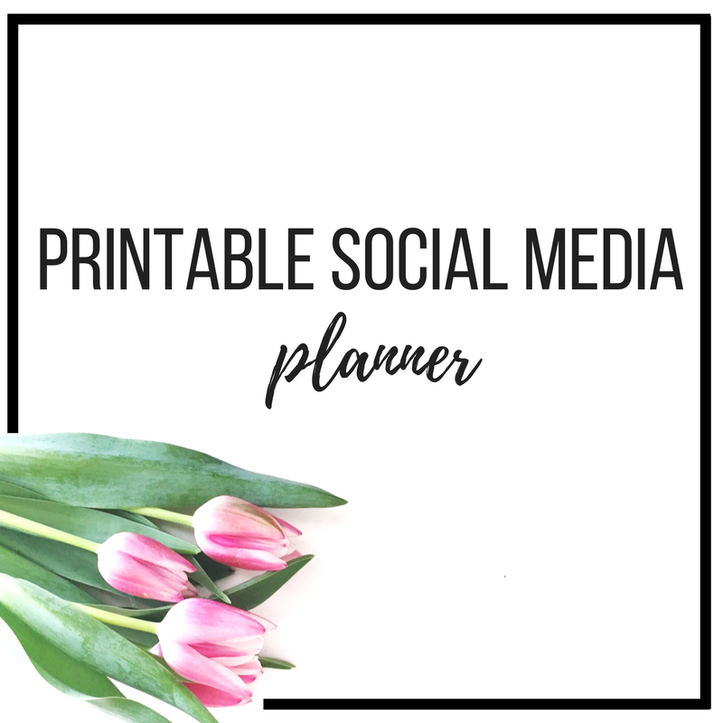 free printable social media planner & calendar