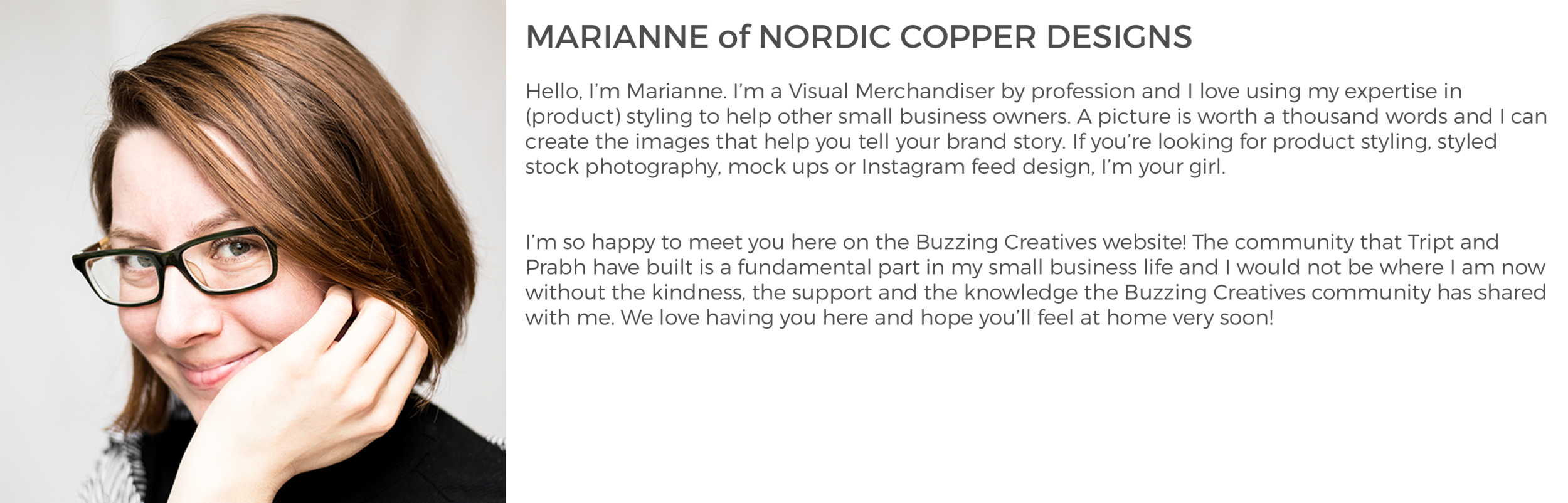 Community Member Marianne of Nordic Copper Designs