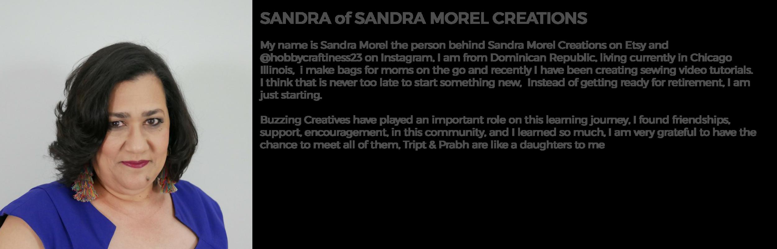Community Member Sandra of Sandra Morel Creations