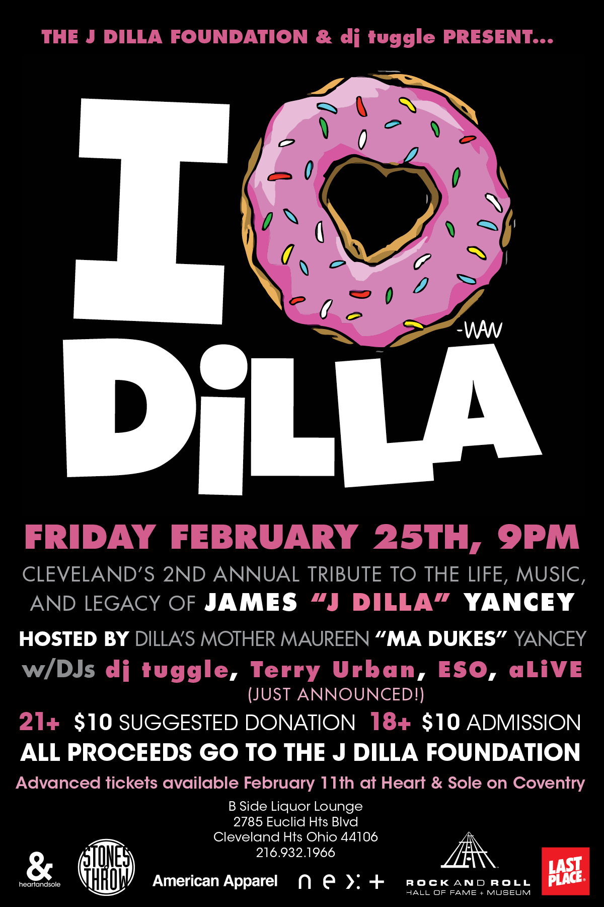 2nd Annual J Dilla Tribute & Fundraiser