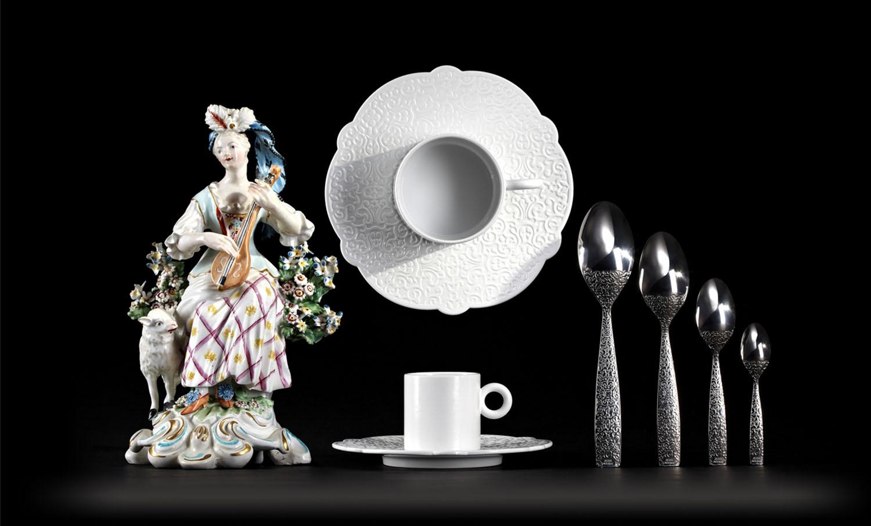 Dressed, tableware.Marcel Wanders for Alessi.