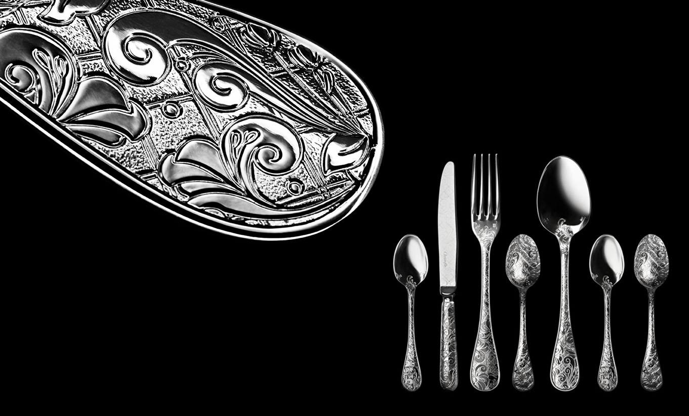 Jardin d'Eden,silverware,Christofle.