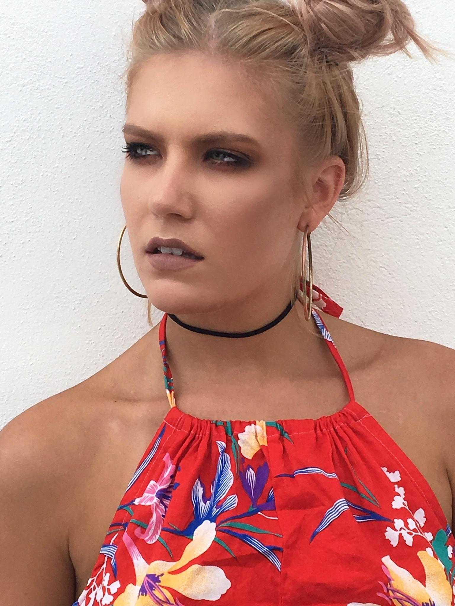 Model: Sarah Pavlik Makeup: Mariah Barnum Hair:  Malika Abdul-Malik