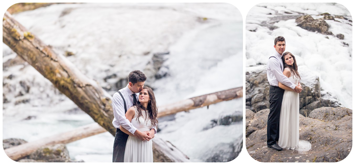 waterfall wedding photos, englishman river falls wedding photos, elopement photos, parksville bc wedding photographer