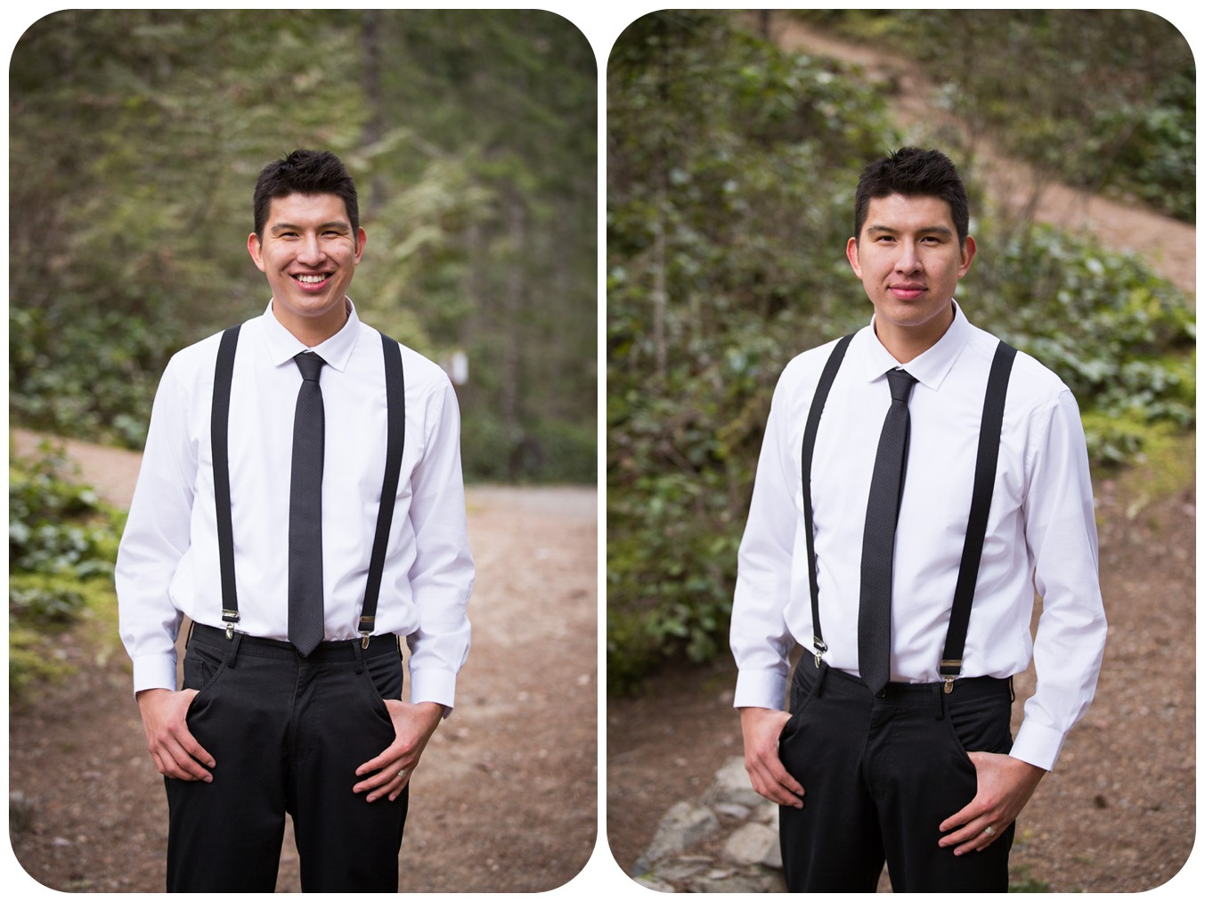 photo of groom on wedding day, groom portraits, englishman river falls groom photos, englishman river falls elopement photographer