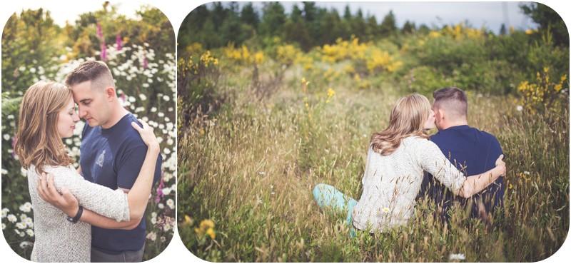 romantic couples photographer qualicum beach, romantic spider lake couples shoot, wildflowers couples session, qualicum bay photographer, engagement photographer qualicum