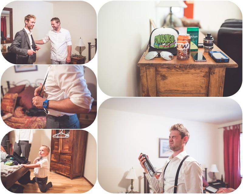 boys getting ready for wedding at 1234 lynn rd tofino