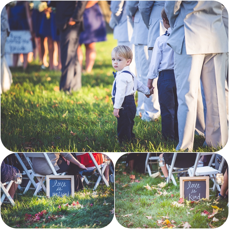 love is patient chalkboard sign photos, adorable ring bearer photos, fasig tipton