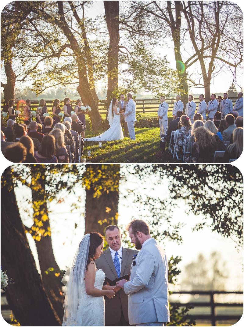 beautiful evening light for october farm wedding at fasig tipton in lexington ky