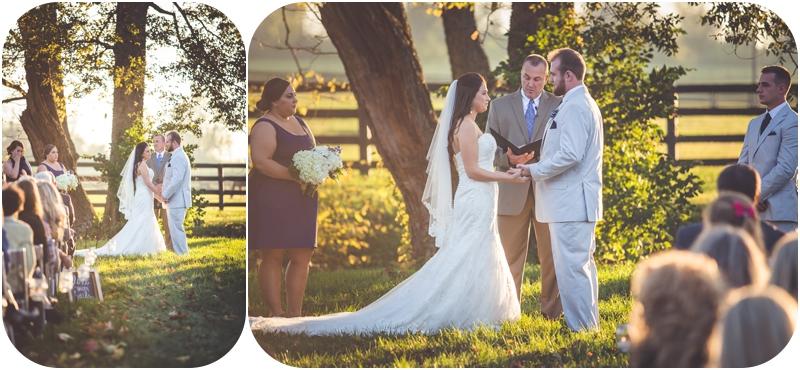 Romantic Fasig Tipton Farm Wedding