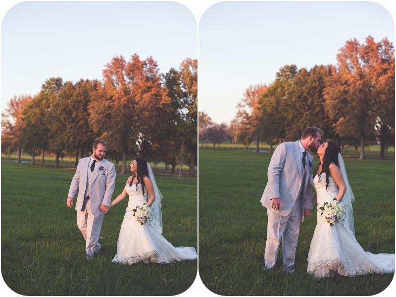 sunset bride and groom portraits on farm photos
