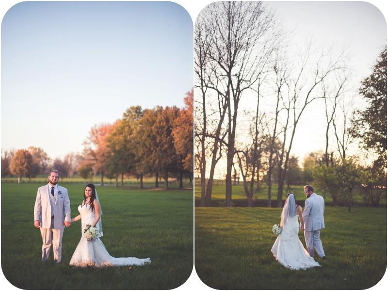 romantic fasig tipton farm wedding, october sunset wedding photos