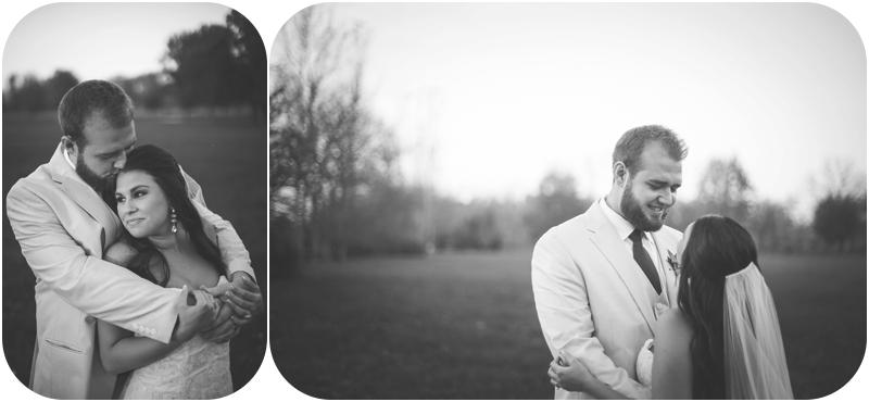 black and white photo of happy bride and groom, fasig tipton wedding photos