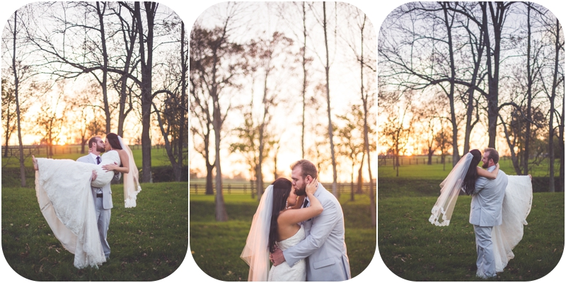 modern fasig tipton farm wedding photos, sunset dancing wedding photos, bride swept off her feet photos