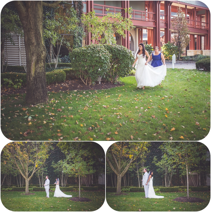 non traditional first look for bride and groom fasig tipton wedding