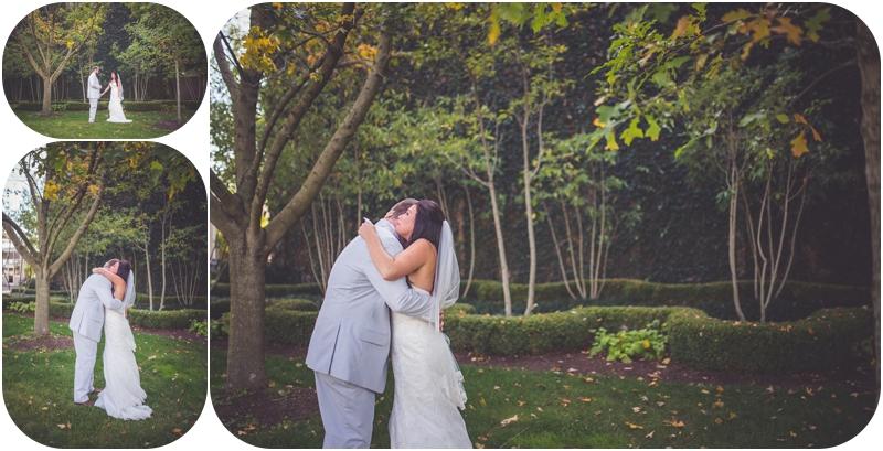 first look for bride and groom lexington KY farm wedding