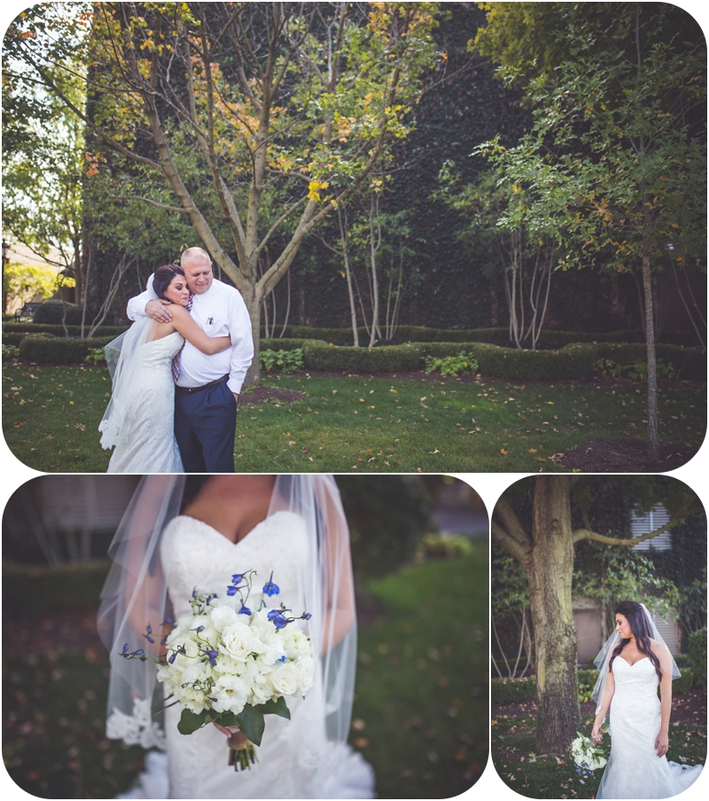 emotional bride meets father on wedding day at fasig tipton