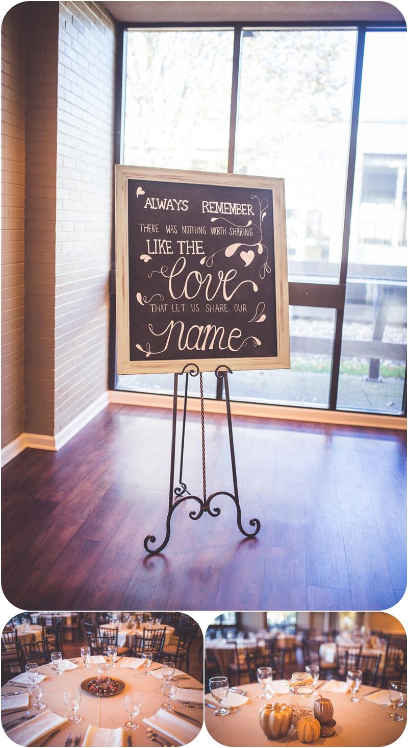 chalkboard sign for wedding at fasig tipton lexington ky