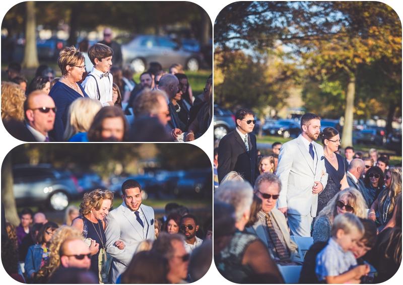 fasig tipton sunset wedding ceremony photos