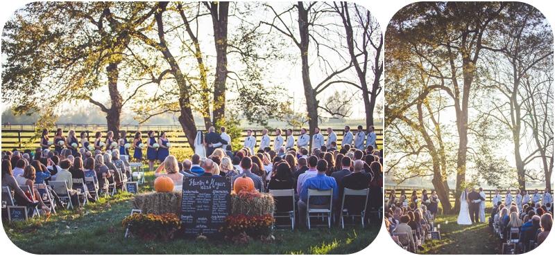outdoor october farm wedding ceremony lexington KY