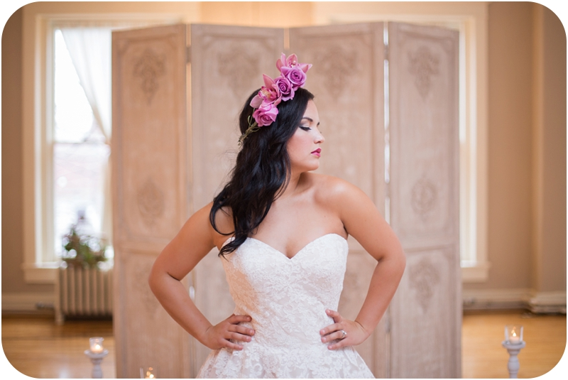 winter wedding inspired bridal session at the loft on spring in new albany indiana