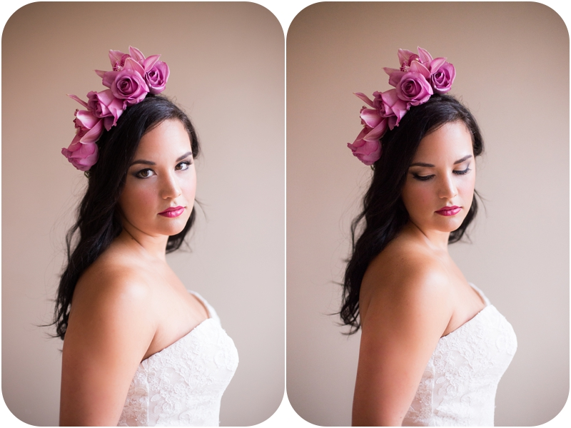 new albany indiana styled bridal session with floral headpiece by gabrielle green of Event 29