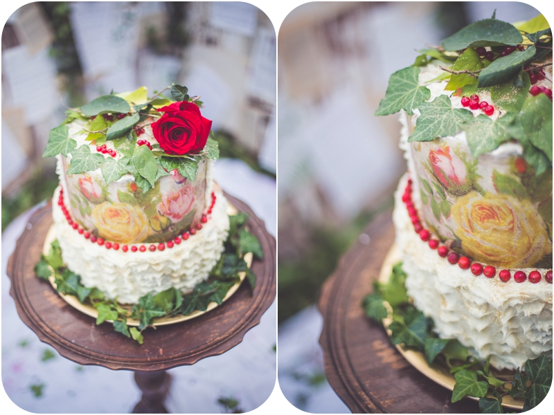 DIY moulin rouge inspired wedding cake