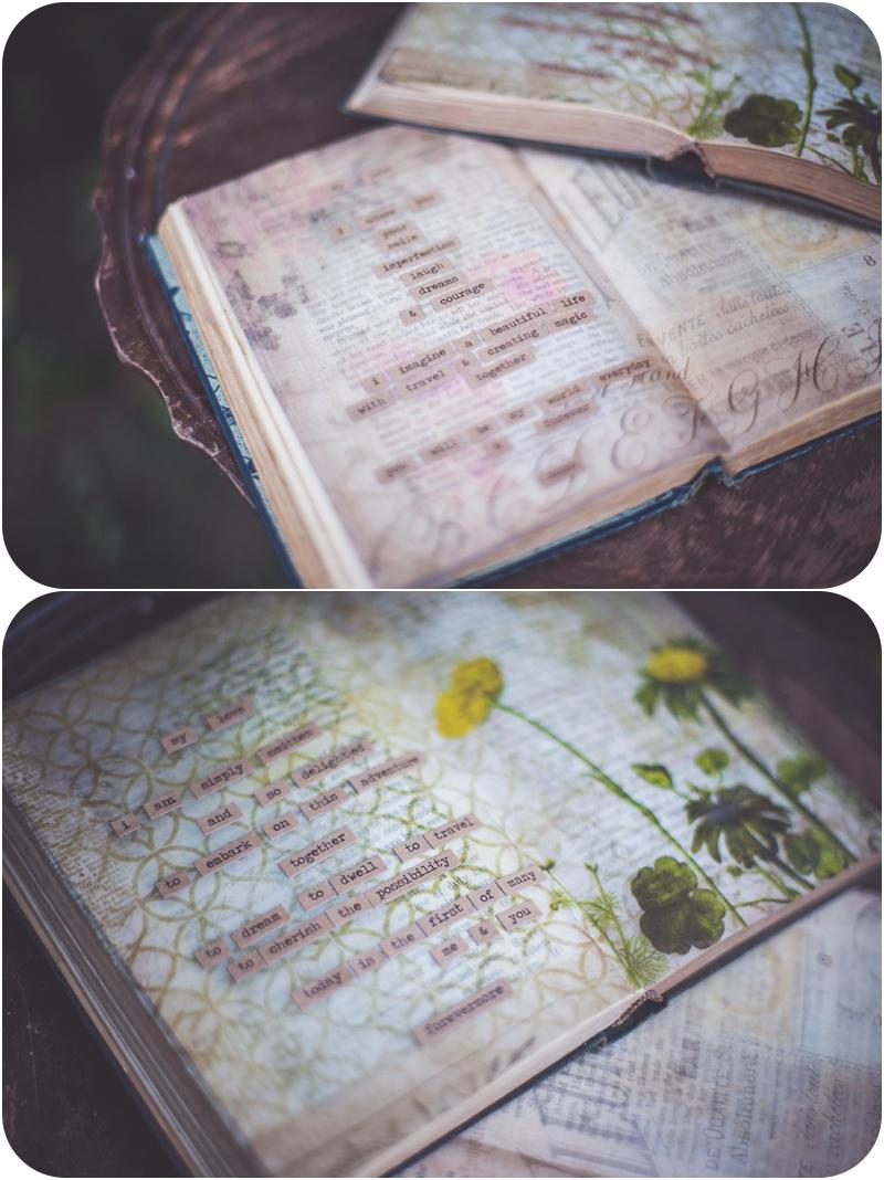 beautiful vows written in vintage book