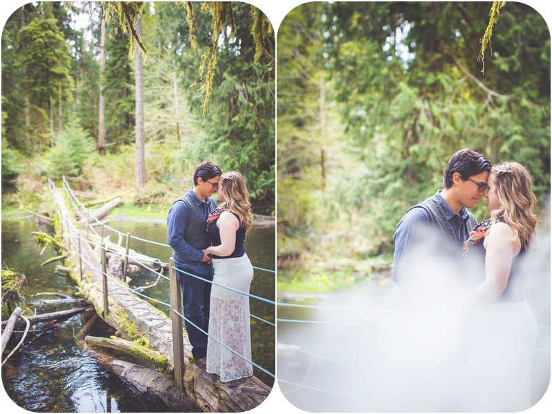 whimsical engagement session on river qualicum beach bc