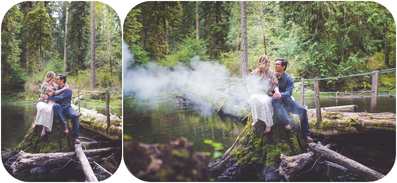 romantic vancouver island engagement photographer, whimsical forest couples session