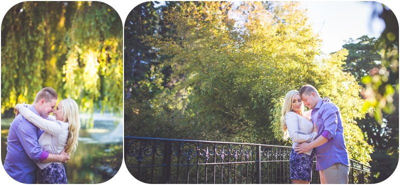 romantic beacon hill park victoria bc engagement photos at golden hour