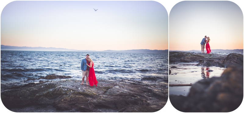 cattle point engagement session victoria bc
