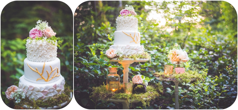 whimsical forest elopement cake by delish cupcakes for forest elopement