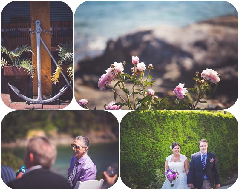 ceremony decor for oceanview wedding at beachside b&b wedding venue ladysmith bc