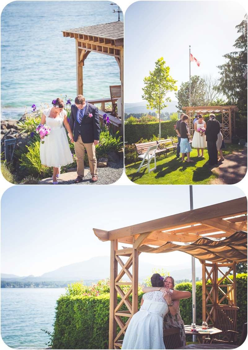 just married at beachside b&b in ladysmith bc