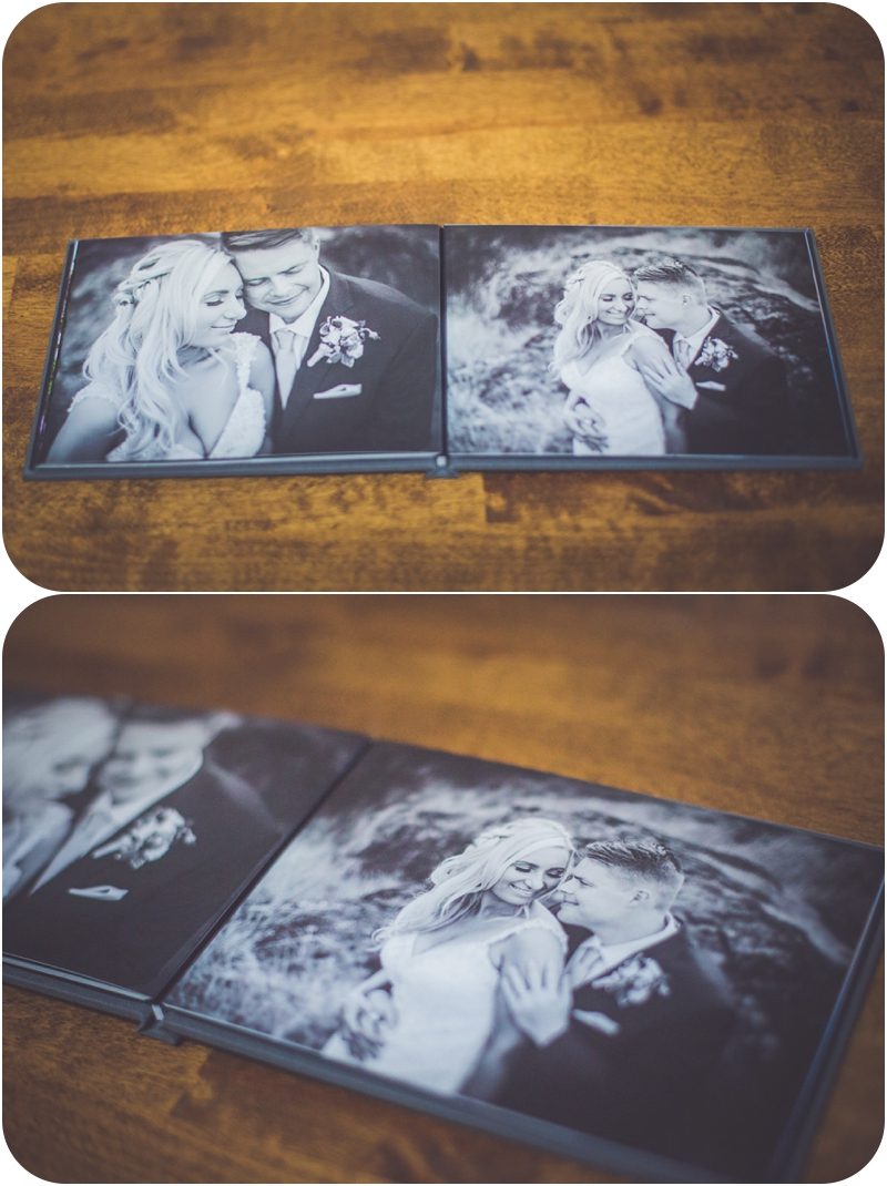 black and white pages in 5x7 keepsake book from whcc for wedding bookings