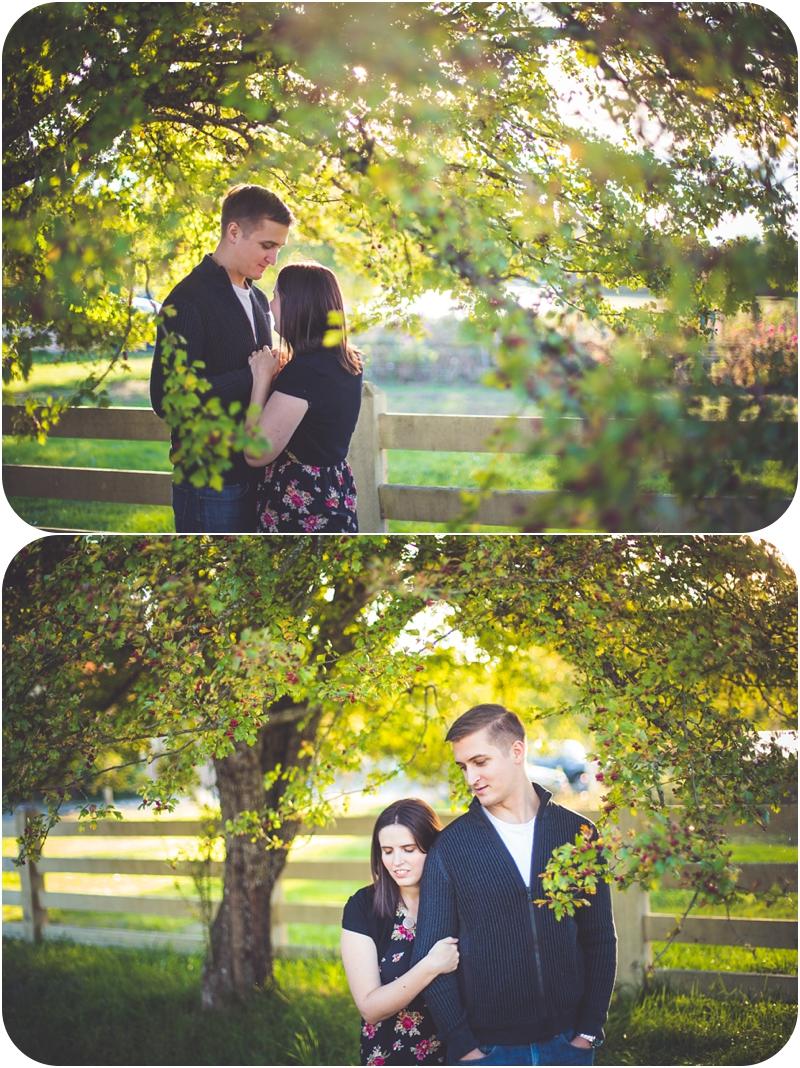beautiful golden hour engagement photos of heather hutchison