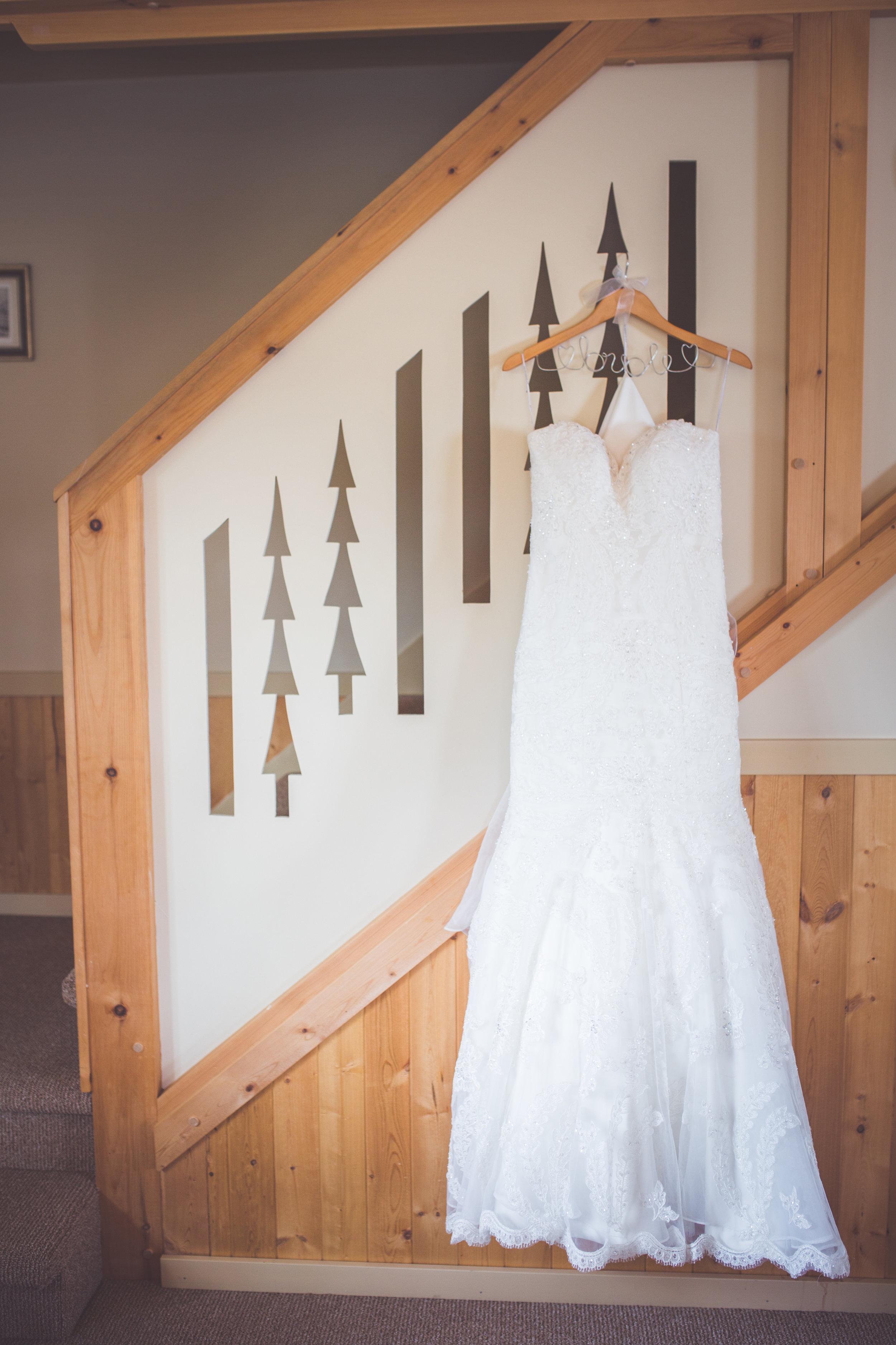 bridal gown details for mount washington resort wedding