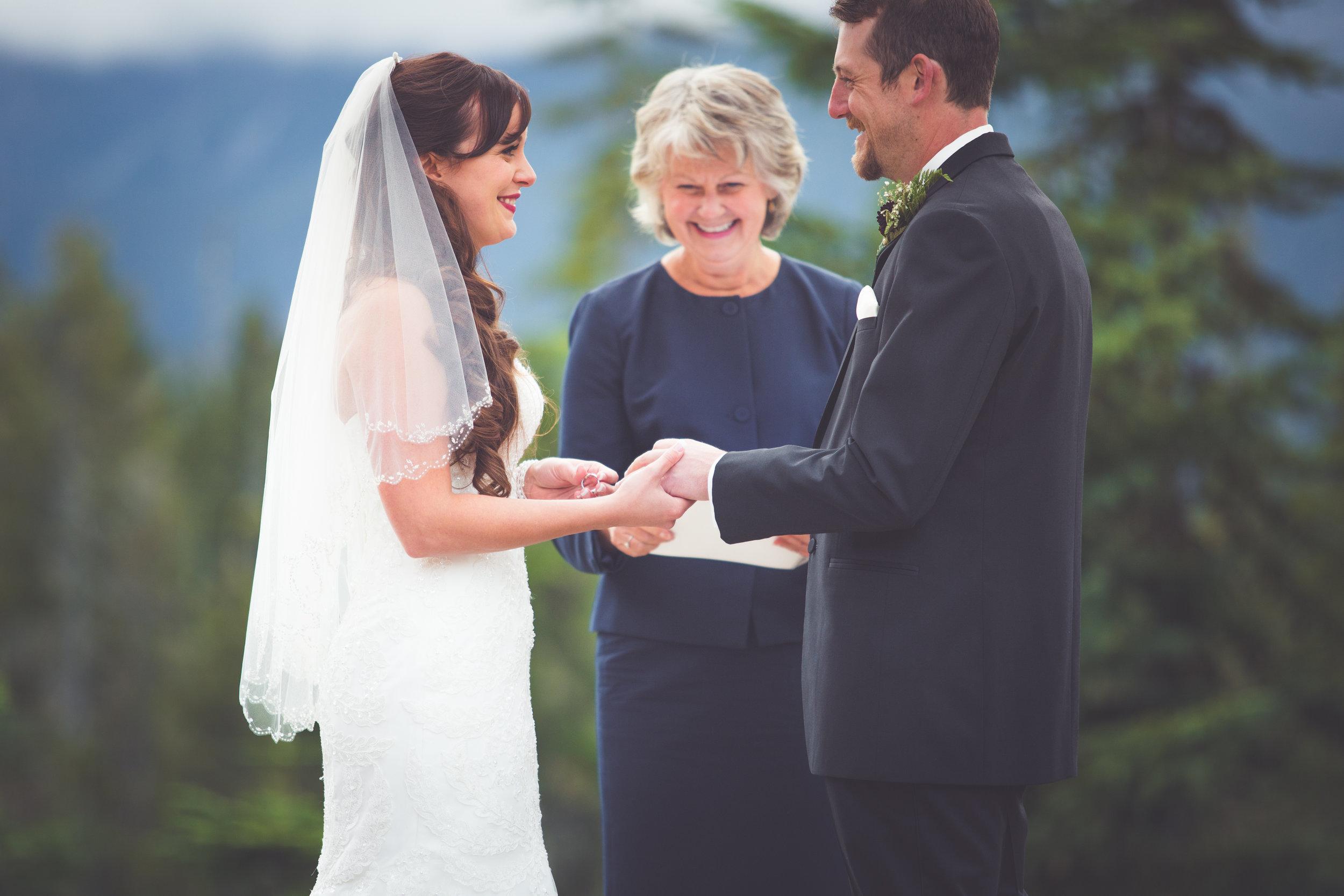 ring exchange at mount washington resort wedding
