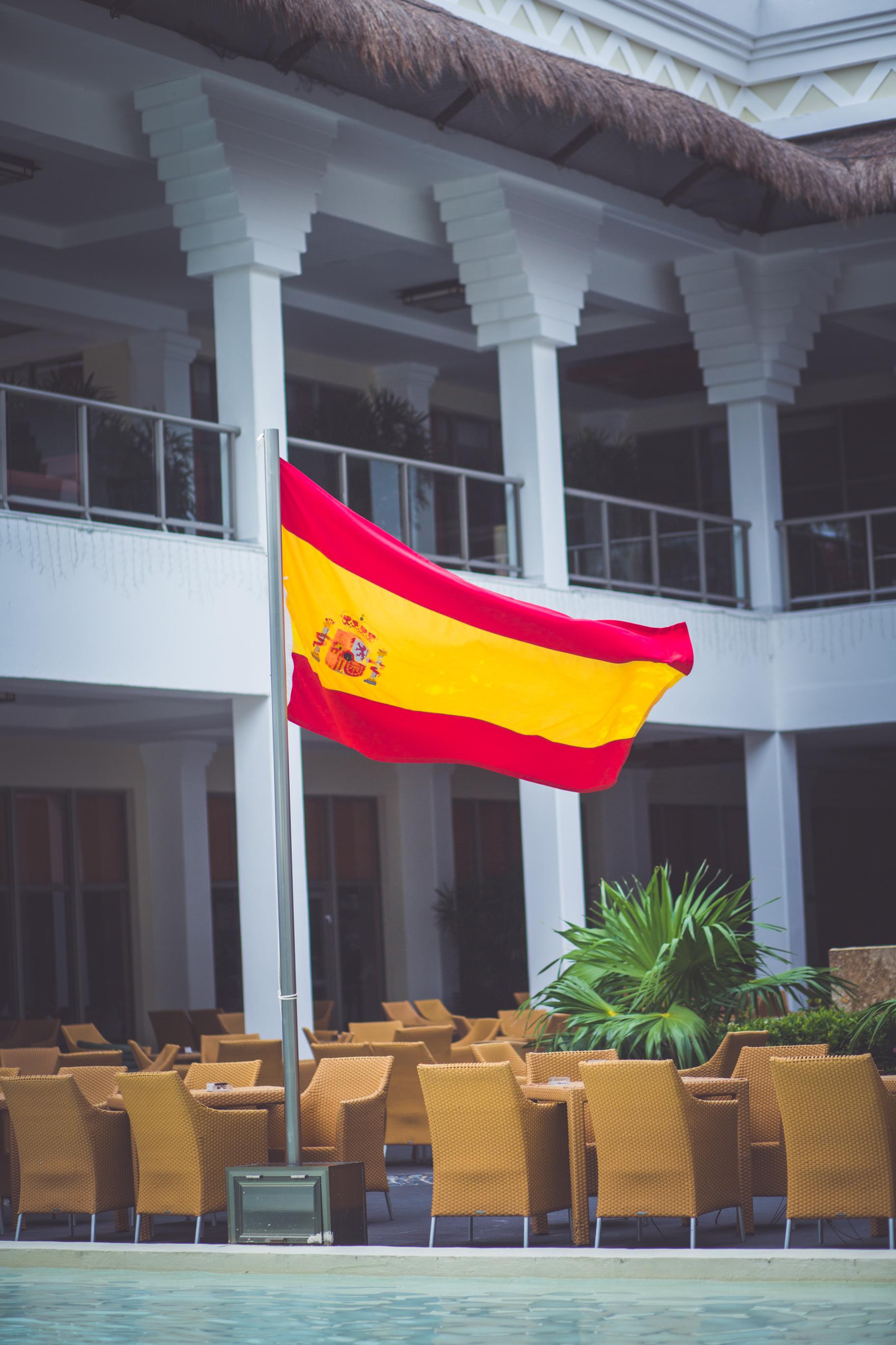 mexican flag at sunset princess resort mexico