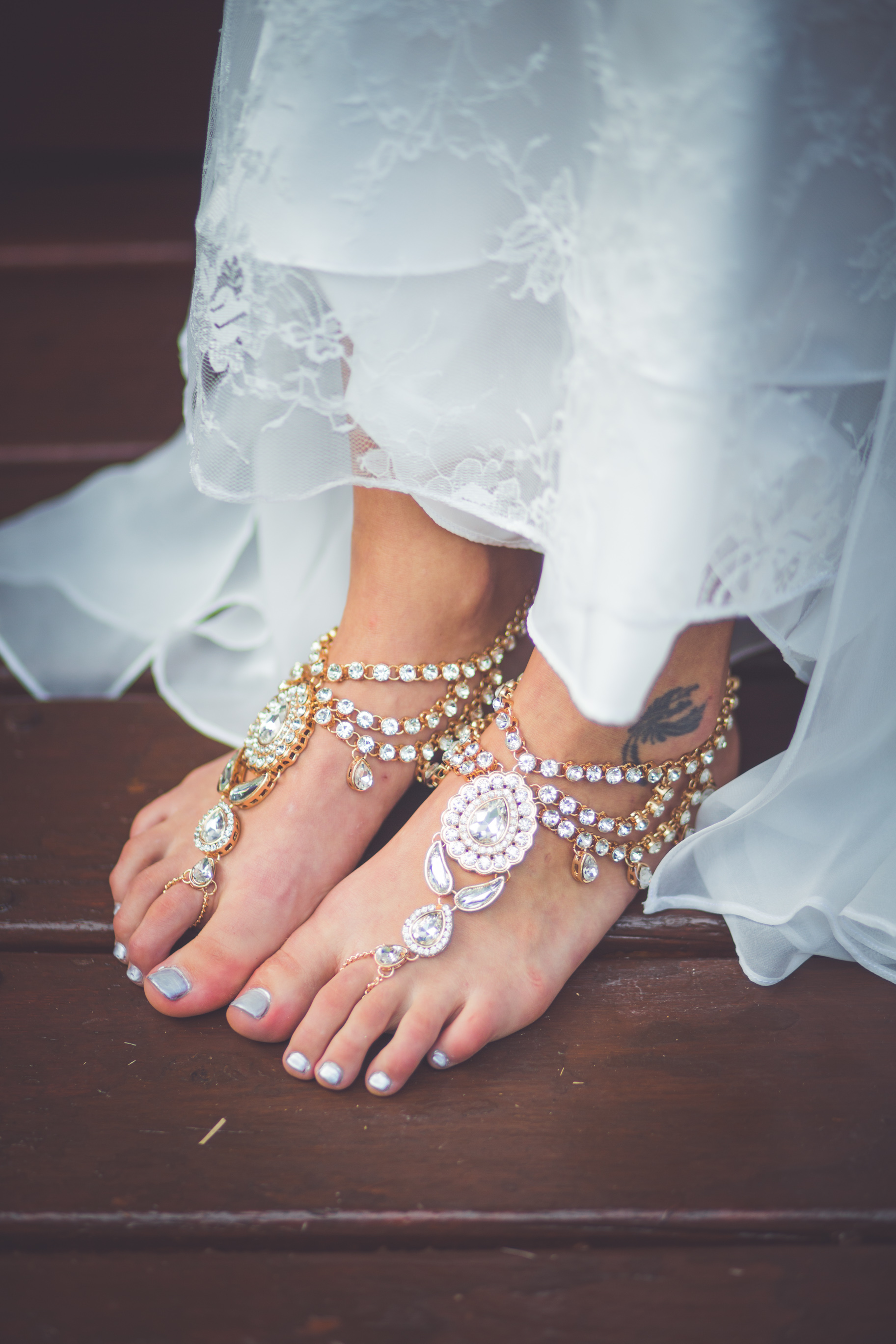 jewel barefoot sandals for mexico wedding