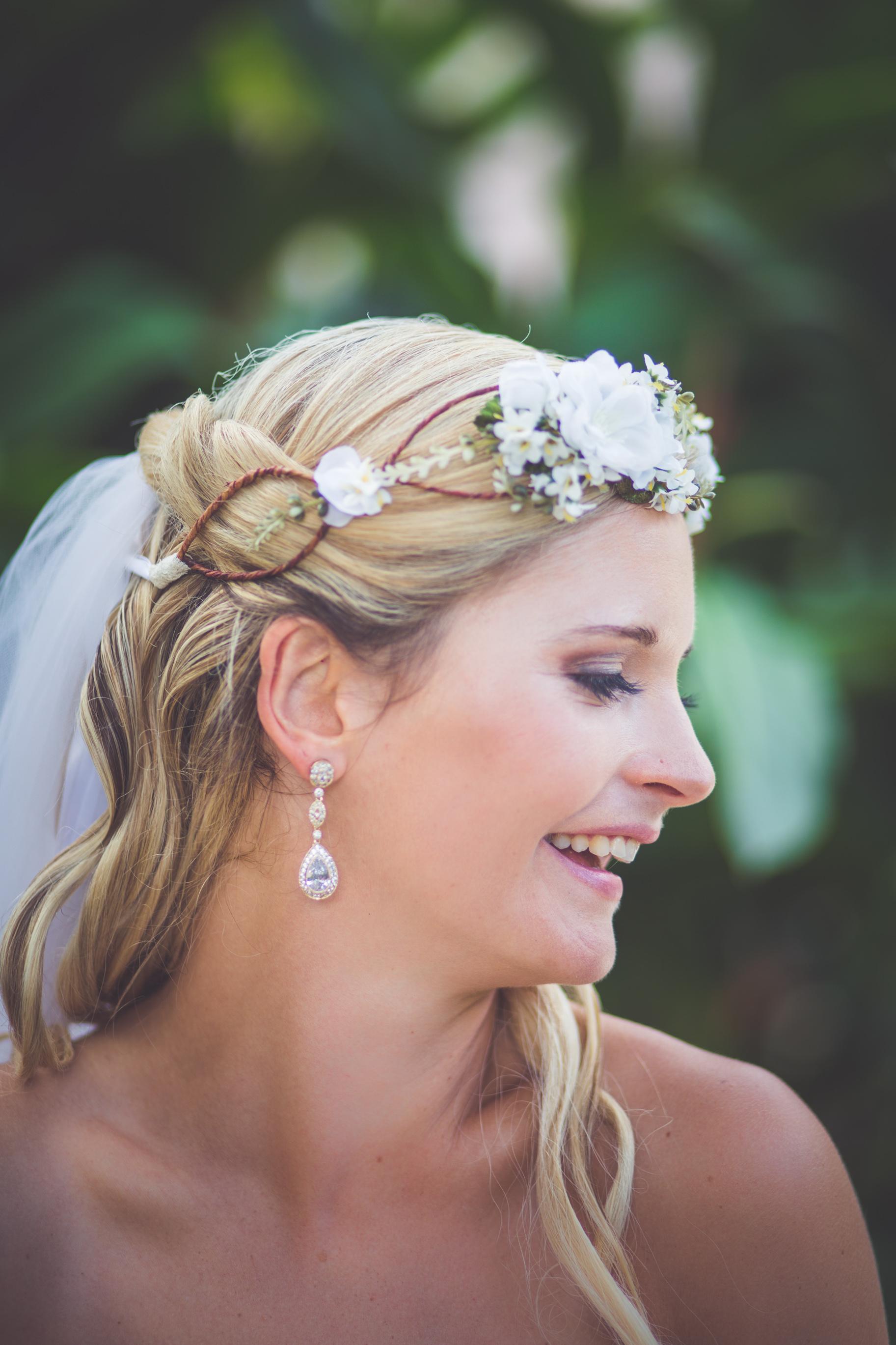 smiling bride mexico wedding