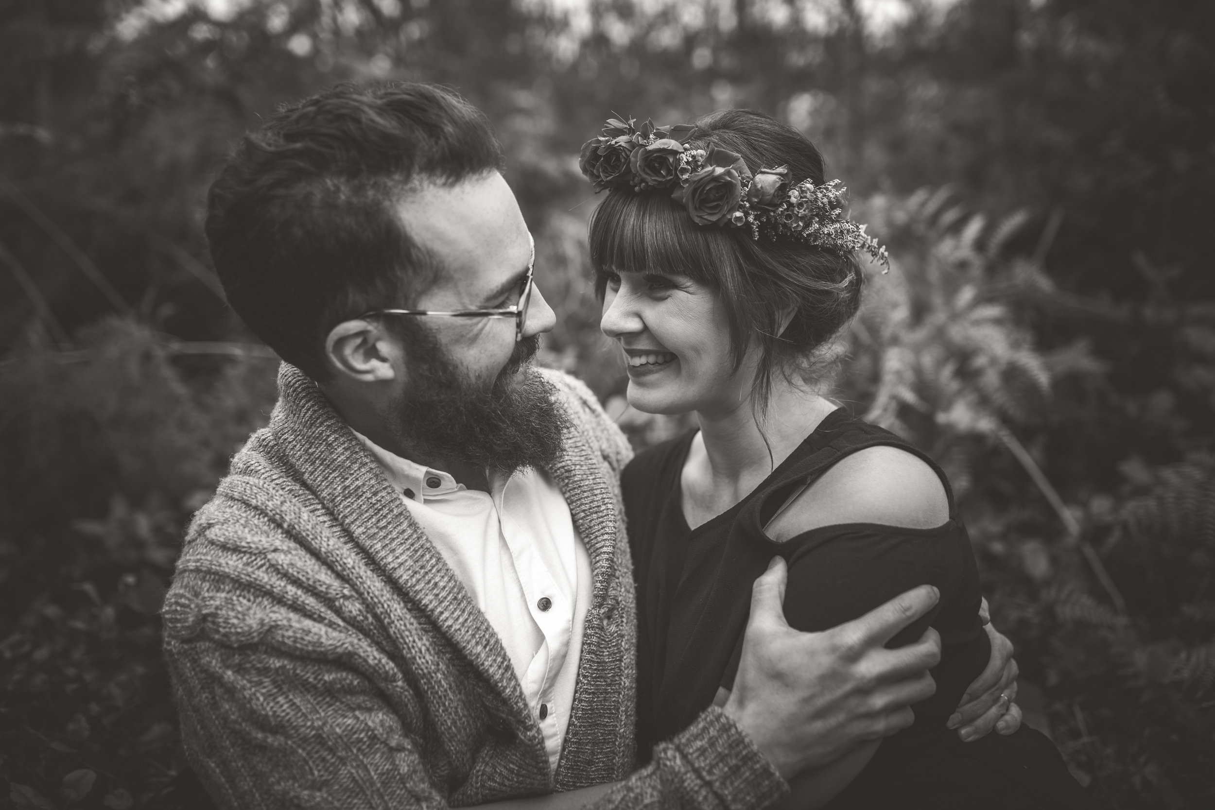 laughter in engagement session
