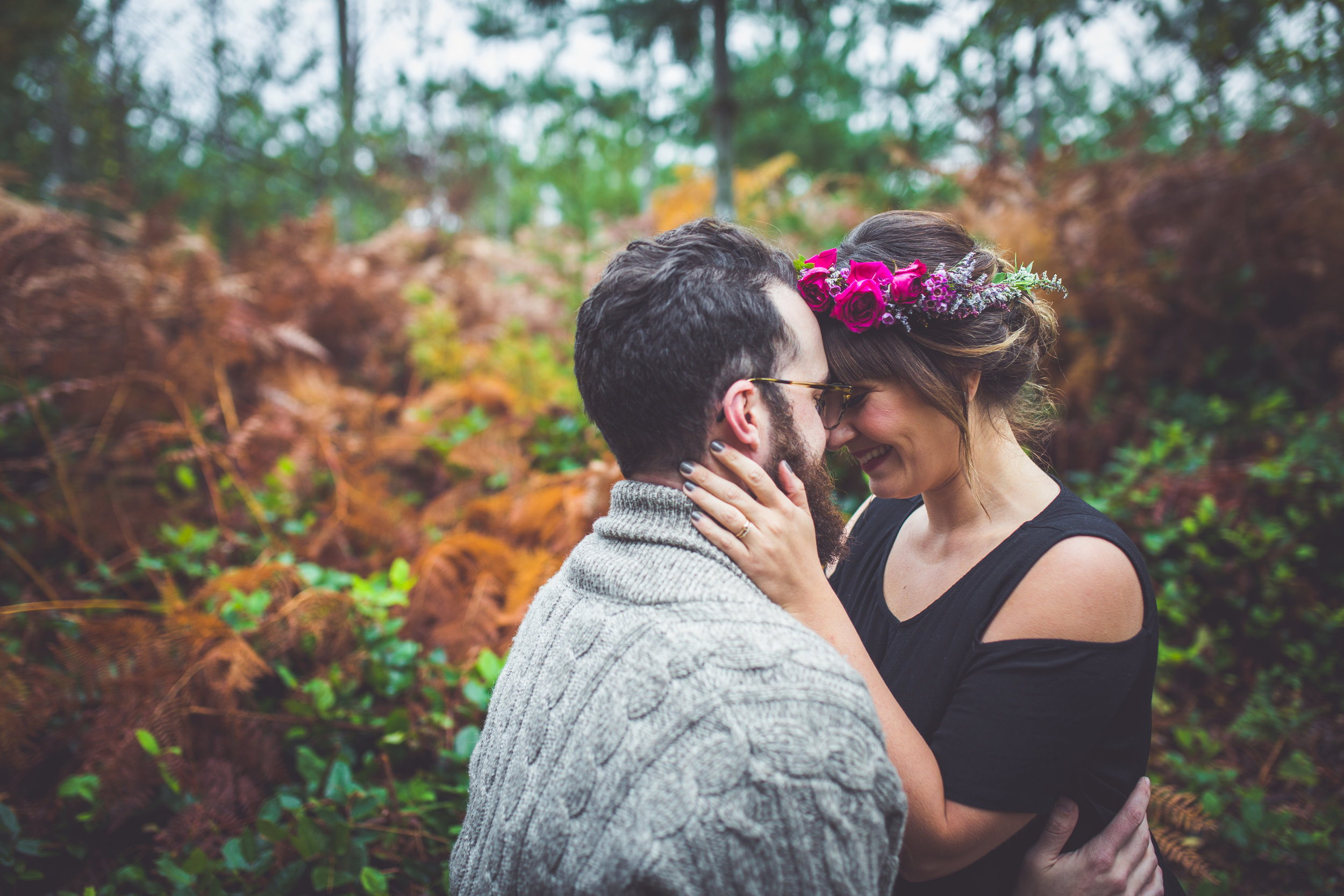 romantic engaged couple parksville bc