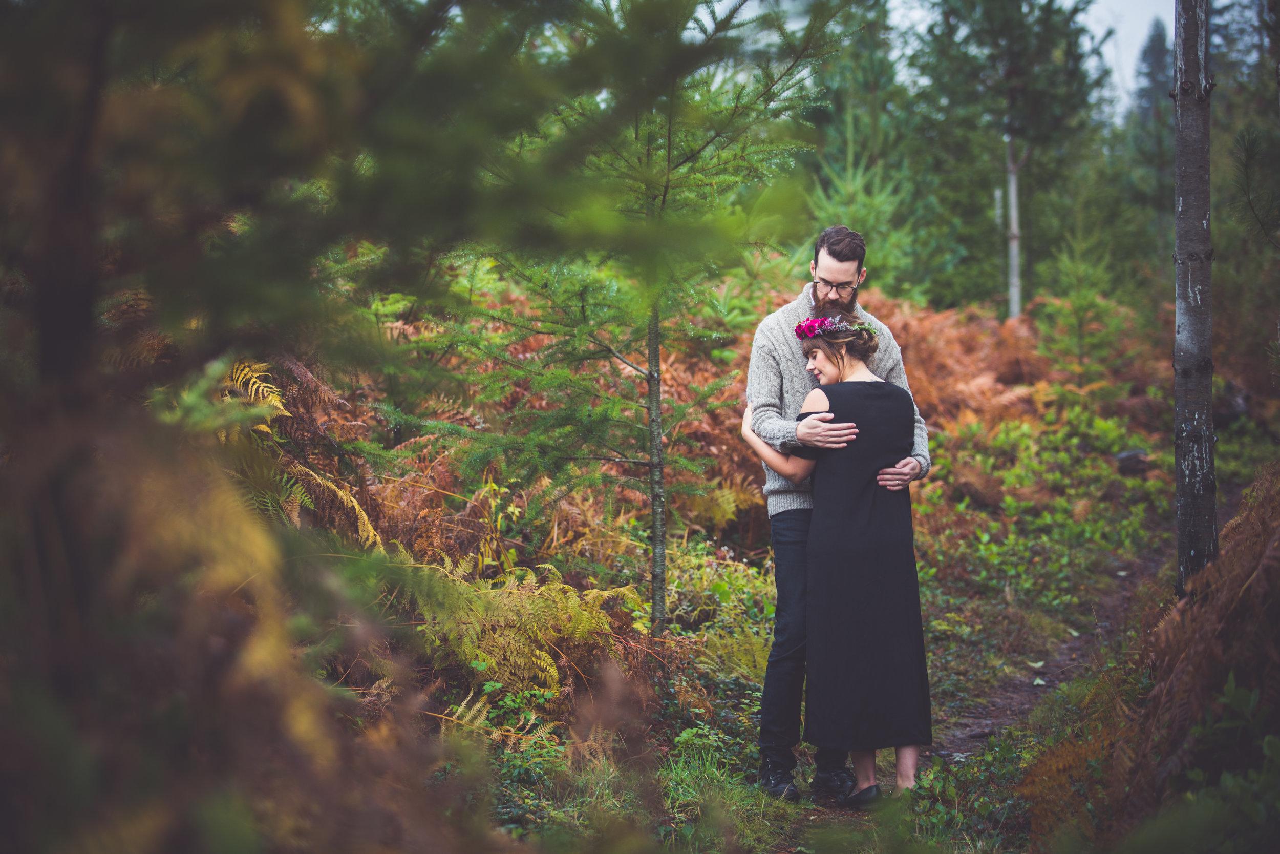 romantic engagement photos vancouver island 2