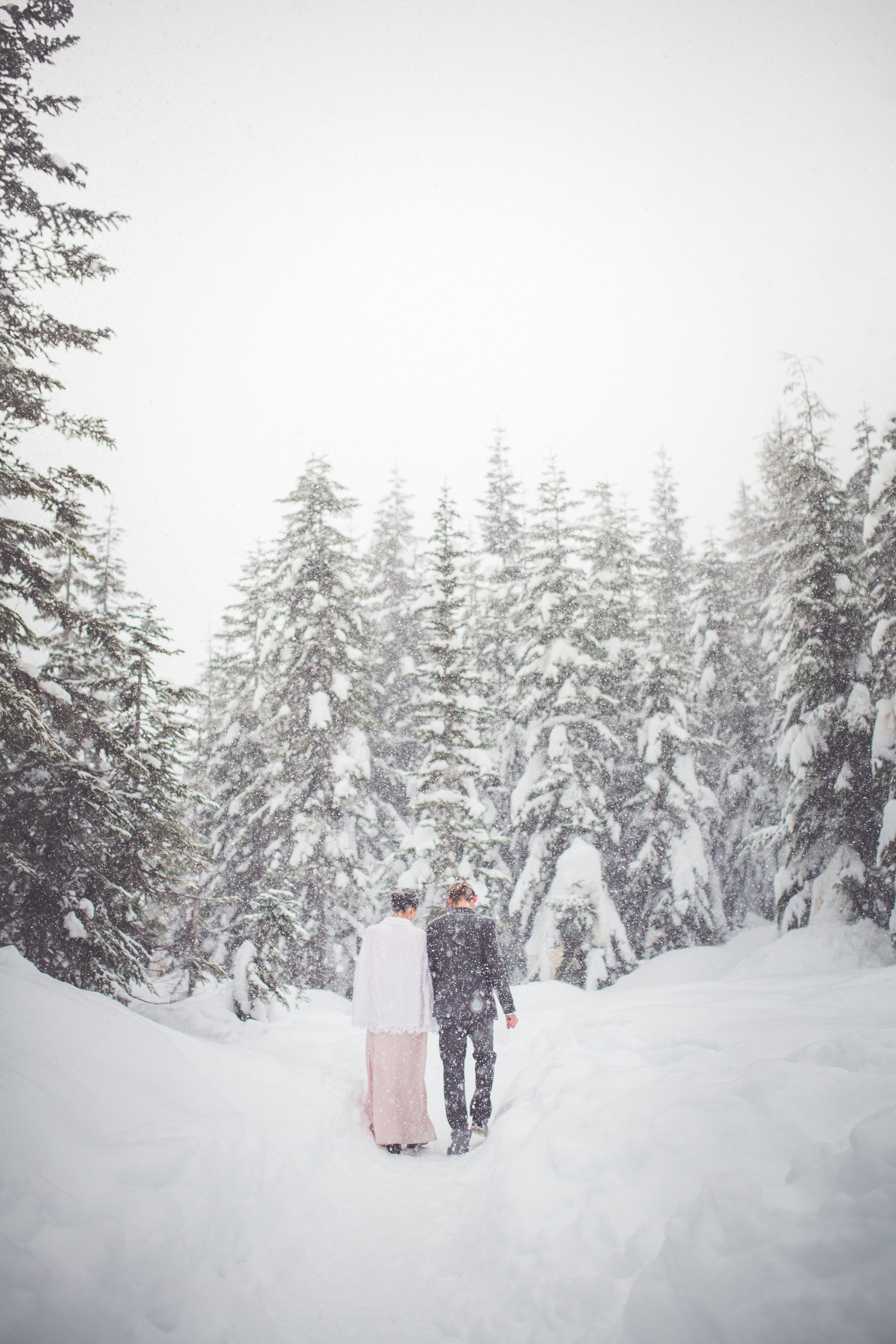 snowy wedding day inspiration courtenay bc