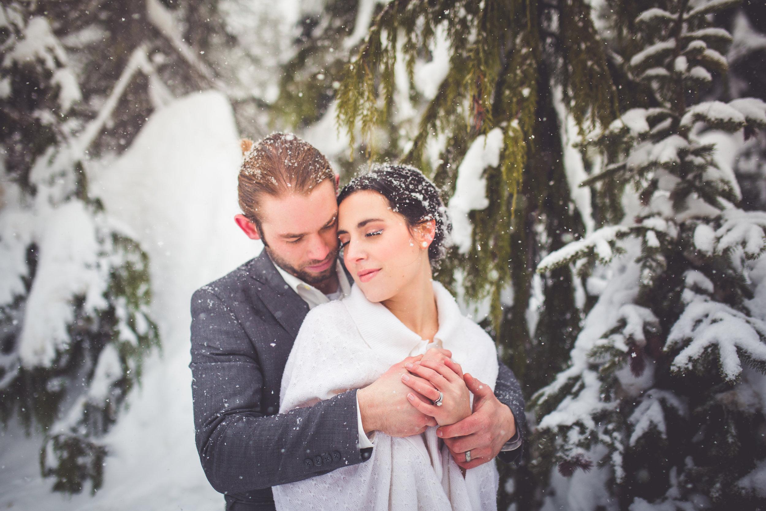 winter wonderland wedding vancouver island