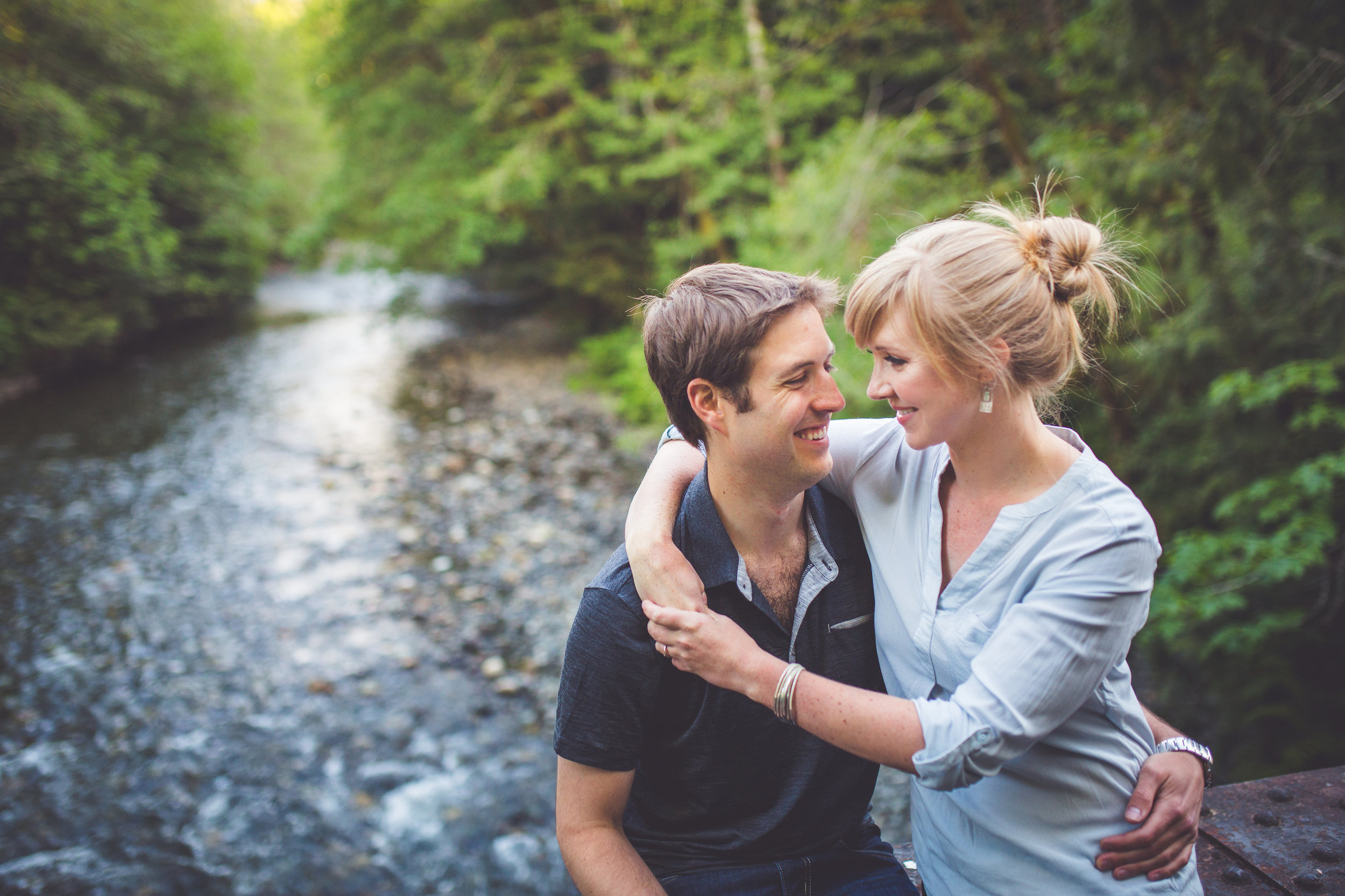 engagement session in bowser bc on vancouver island