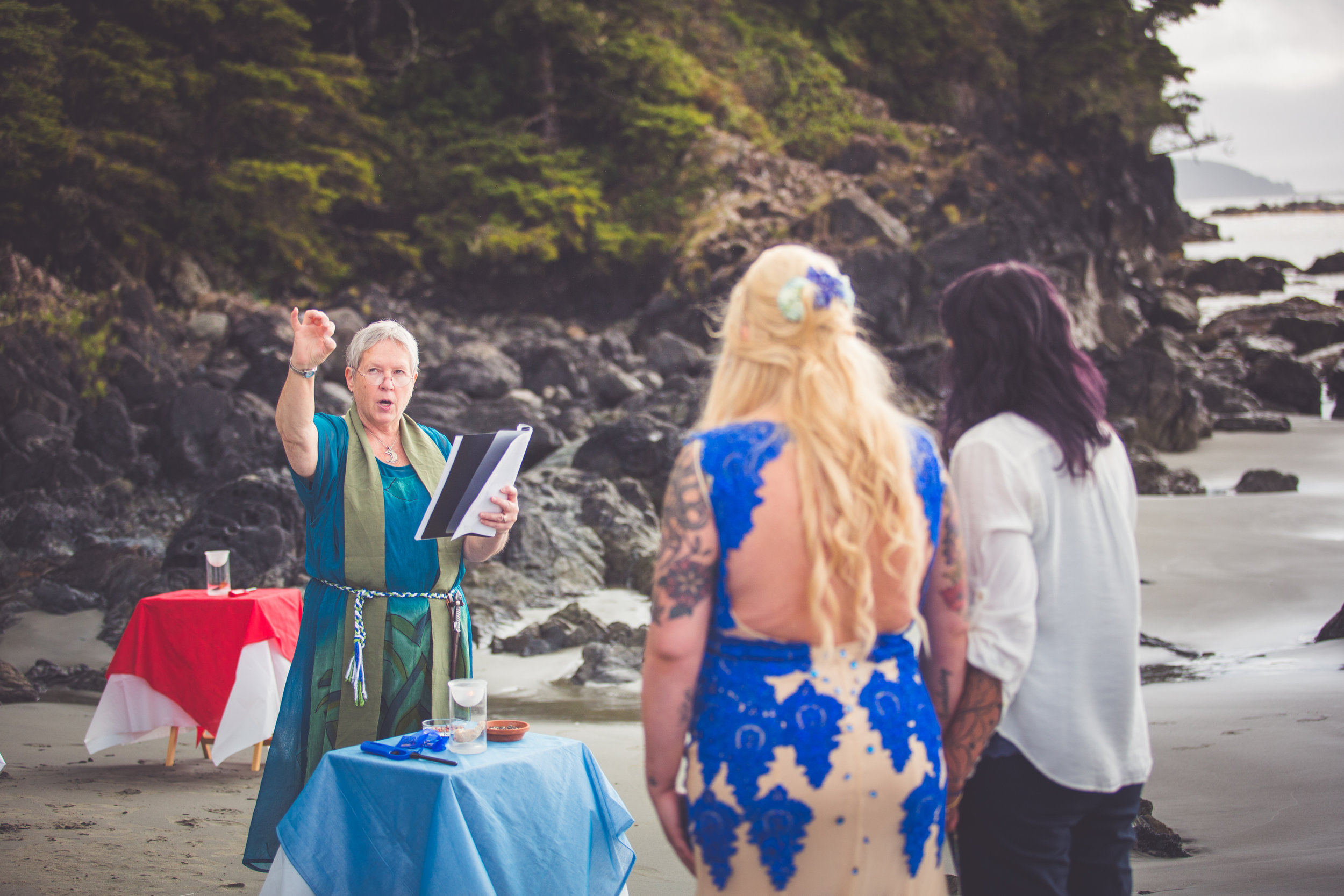 Intimate Wiccan Wedding Vancouver Island