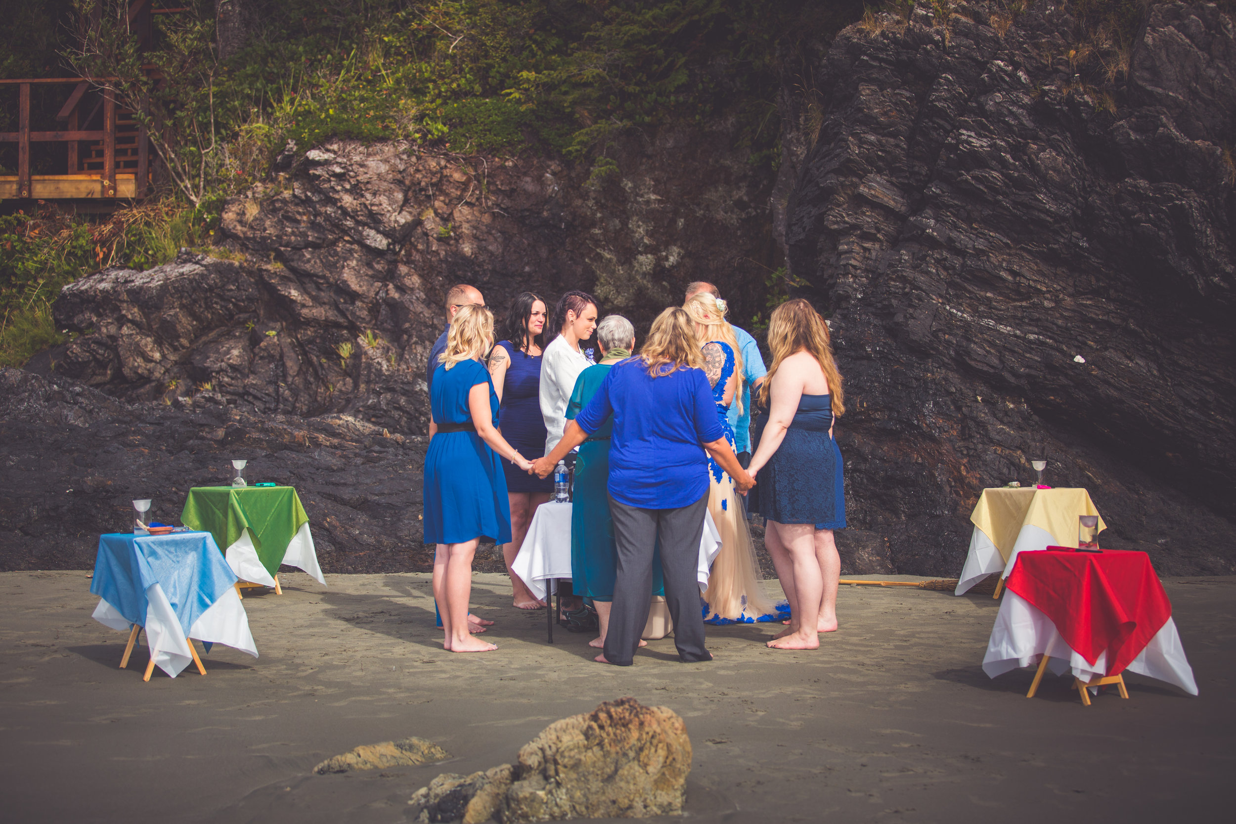 Sacred Circle at Wiccan Wedding Tofino BC